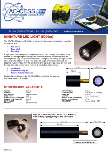 Miniature 5000m Rated LED Light