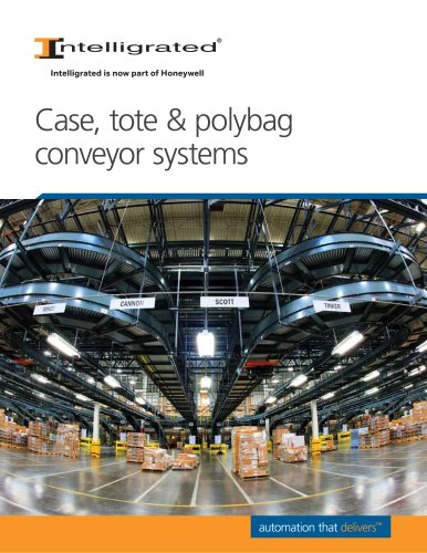 Case, tote & polybag conveyor systems
