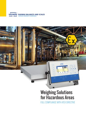 Weighing solutions for hazardous areas