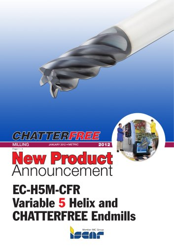 EC-H5M-CFR Variable 5 Helix and CHATTERFREE Endmills