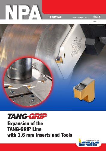 Expansion of the TANG-GRIP Line with 1.6 mm Inserts and Tools