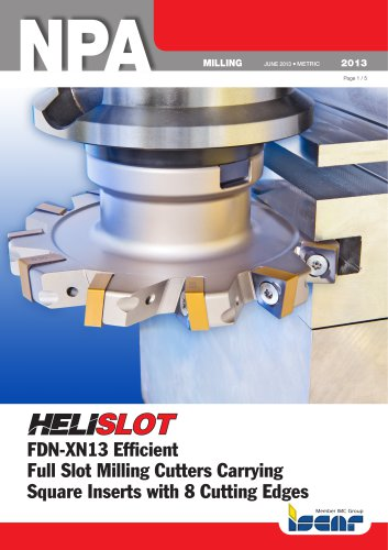FDN-XN13 Efficient Full Slot Milling Cutters Carrying Square Inserts with 8 Cutting Edges