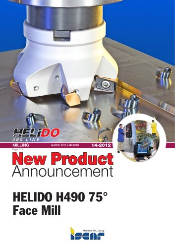 HELIDO H490 75° Face Mill
