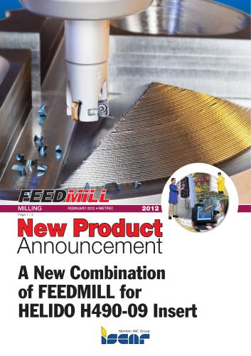 A New Combination of FEEDMILL for HELIDO H490-09 Insert