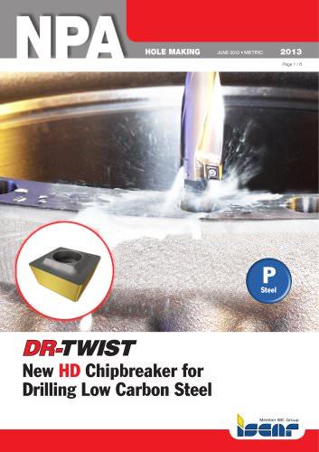 New HD Chipbreaker for Drilling Low Carbon Steel