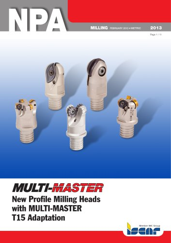New Profile Milling Heads with MULTI-MASTER T15 Adaptation