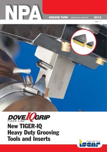 New TIGER-IQ Heavy Duty Grooving Tools and Inserts