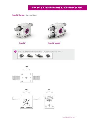 Technical Data - lean SL® series