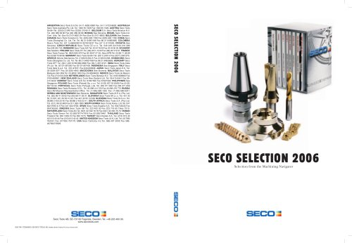 "SECO TOOLS - Catalog ""Seco selection 2006"""