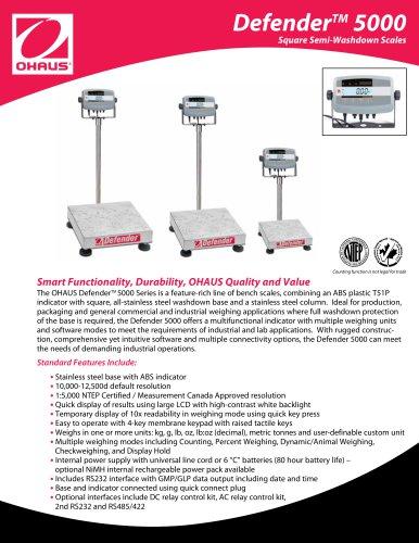 Defender  5000 Square Semi-Washdown Scales
