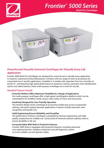 Frontier™  5000 Series Multi-Pro Centrifuges