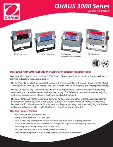 OHAUS 3000 Series Economy Indicators
