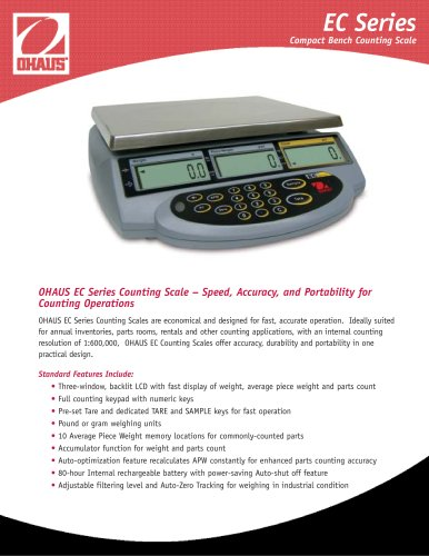 The Ohaus EC Counting Scale  EC 3