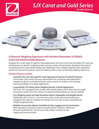 SJX Carat and Gold Series Portable Balances