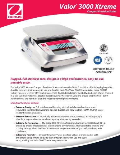 Valor 3000 Xtreme Compact Precision Scales