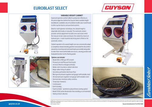 Euroblast Select - Adjustable Height