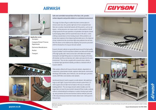Guyson Airwash Leaflet