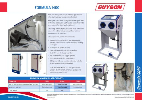 Guyson Formula 1400