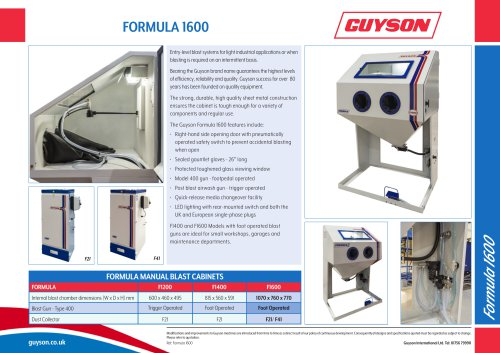 Guyson Formula 1600