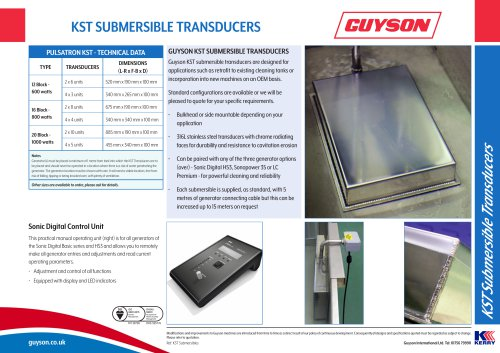 KST Submersible Transducers
