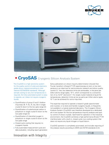 CryoSAS - Cryogenic Silicon Analysis System