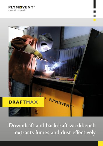 DraftMax - Downdraft and backdraft workbench extracts fumes and dust effectively
