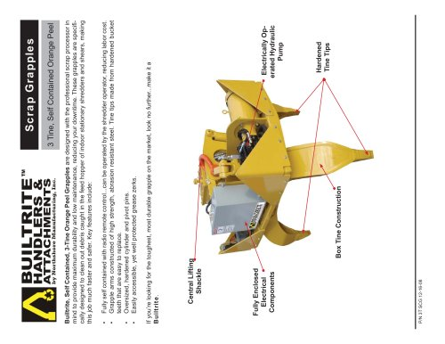 3 Tine Scrap Grapple - Self Contained