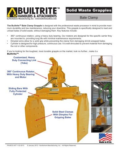Bale Clamp Waste Grapple