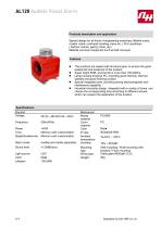 AL120 Audible Visual Alarm - 1