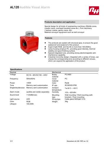 AL120 Audible Visual Alarm