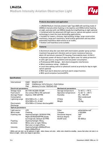 LM403A Medium Intensity Aviation Obstruction Light