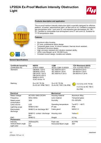 LP202A Ex-Proof Medium Intensity Obstruction Light