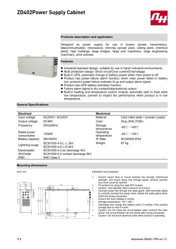 ZD402Power Supply Cabinet