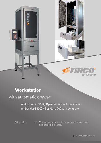 Workstation with automatic drawer