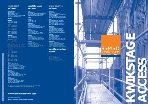 Kwikstage Access brochure