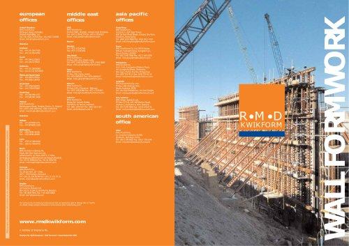 Wall Formwork brochure