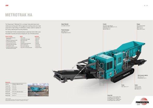 Powerscreen Metrotrak HA Crushing Brochure