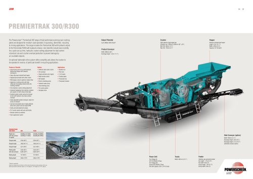 Powerscreen Premiertrak 300 Crushing brochure