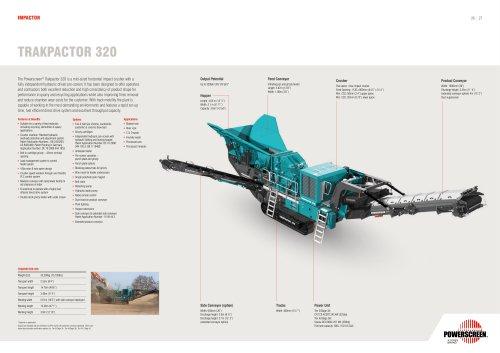 Powerscreen Trackpactor 320 Impact Crusher