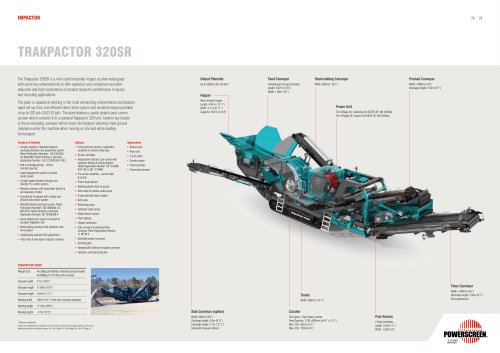 Powerscreen Trackpactor 320SR Crusher Brochure