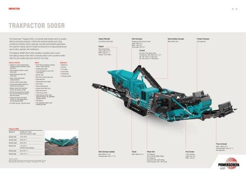 Powerscreen Trakpactor 500SR Crushing