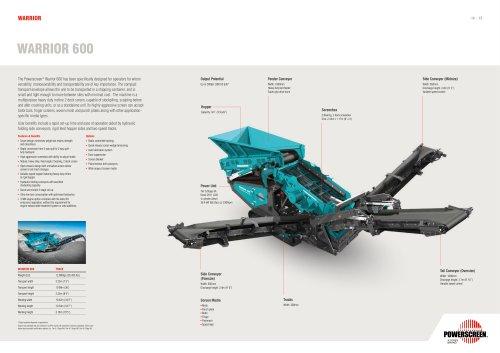 Powerscreen Warrior 600 Brochure