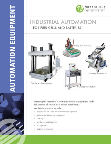 Automated Equipment for the Solar Panel Manufacturing Industry
