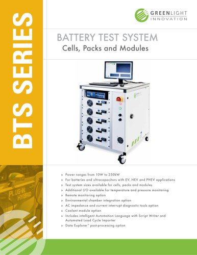 Electric and Hybrid Electric Vehicle Battery Testing