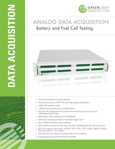 Fully Configurable Analog Data Acquisition