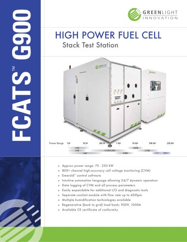 G900 - High Power Fuel Cell Test Station
