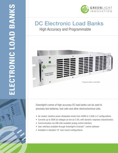 High Accuracy Programmable Electronic Load Banks