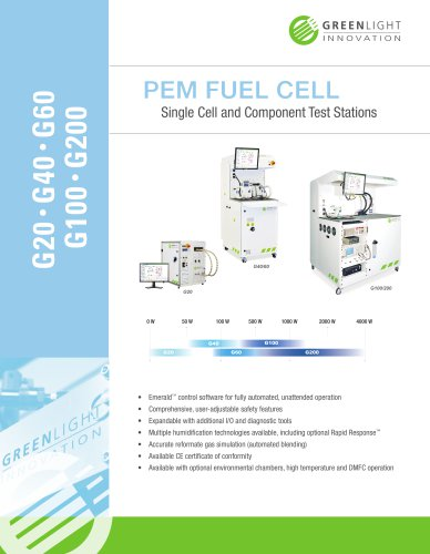 PEM FUEL CELL Single Cell and Component Test Stations