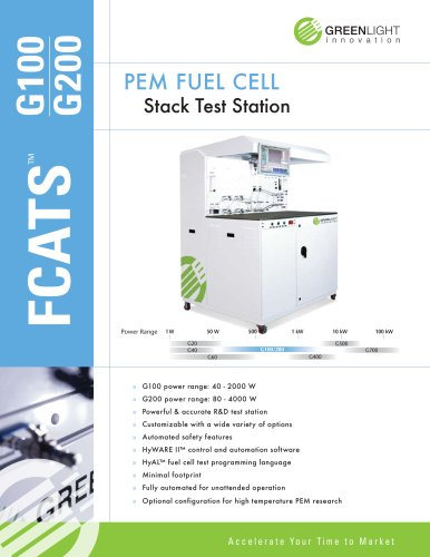 PEM fuel cell test station G100 - G200 - Greenlight