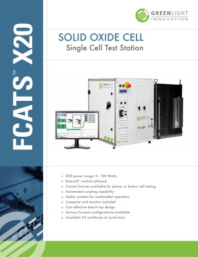X20 - Single Cell SOFC Test Station